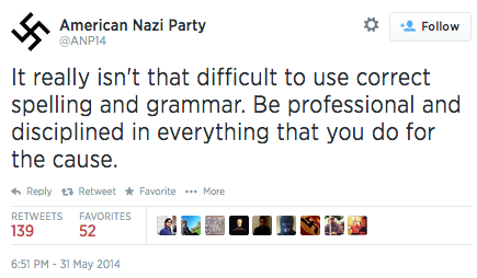 Turns out Nazis are real grammar nazis.