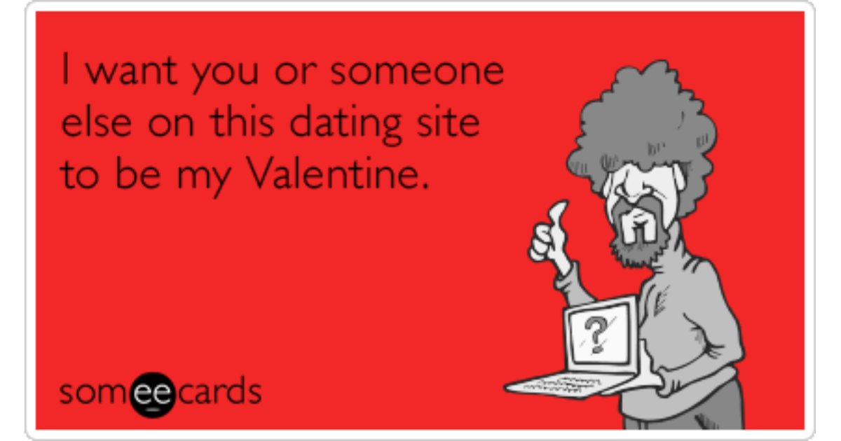 online dating valentines cards