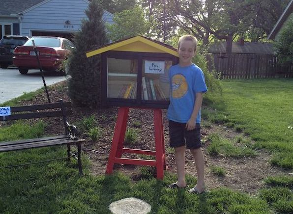 A town has ordered a 9-year-old boy to shut down the tiny free library on his front lawn.