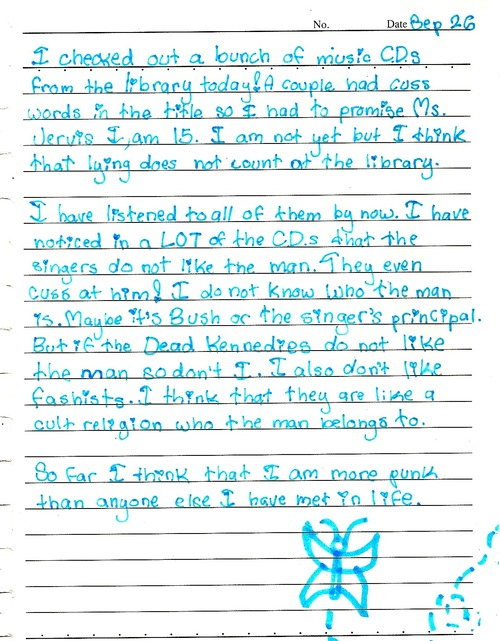 This little girl's diary entry is the most punk rock thing you've seen in your life.
