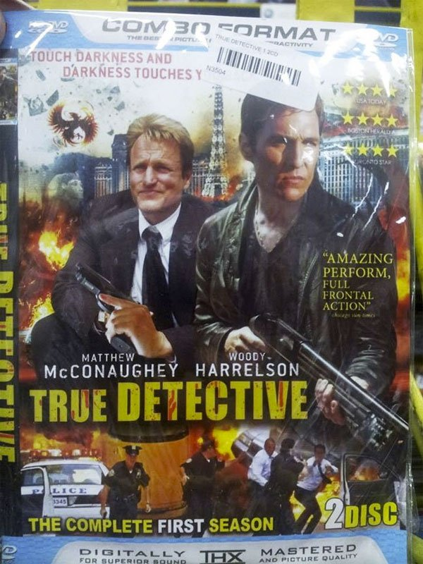 This bootleg 'True Detective' DVD cover reminds us of all the things we loved about the show.