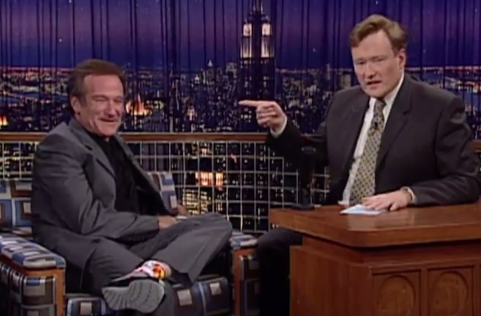 Last night, Conan told the story of the time Robin Williams cheered him up by buying him an insane gift.