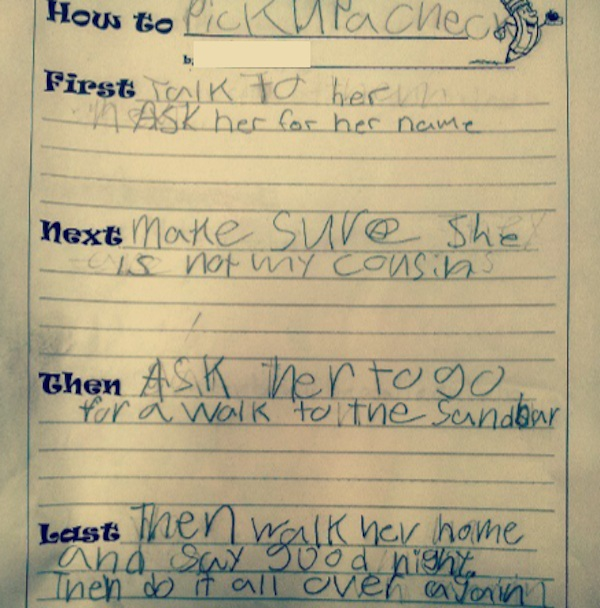 This kid's advice for picking up chicks will put your game to shame.