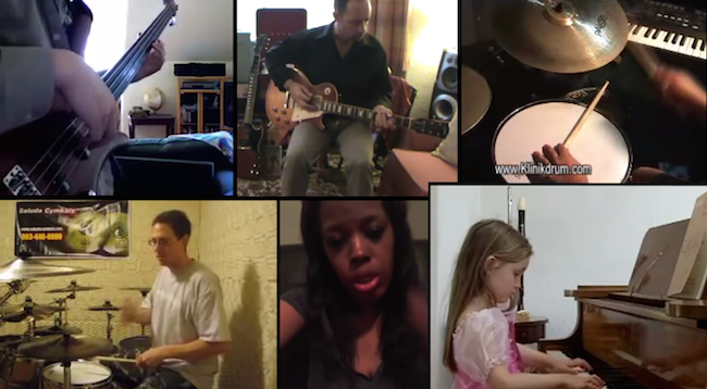 This guy created an incredible song using YouTube clips of various amateur musicians.