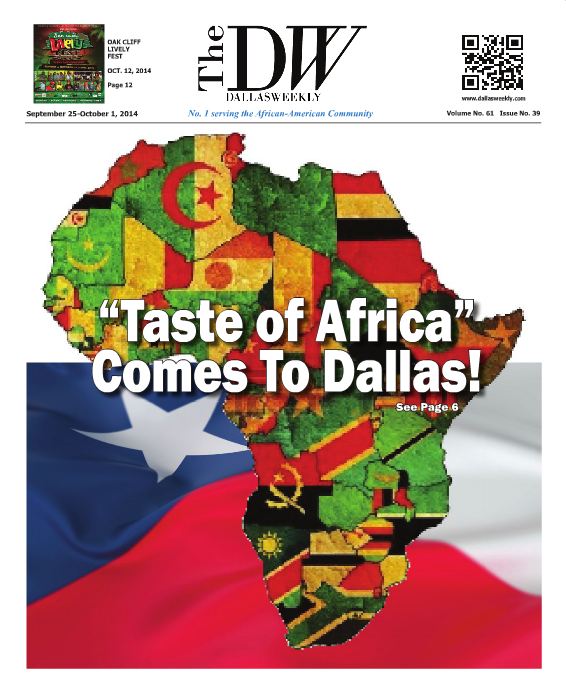 The Dallas Weekly newspaper has REALLY bad timing with its cover this week.