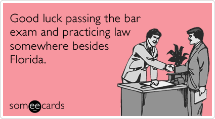 Good luck passing the bar exam and practicing law somewhere besides Florida.
