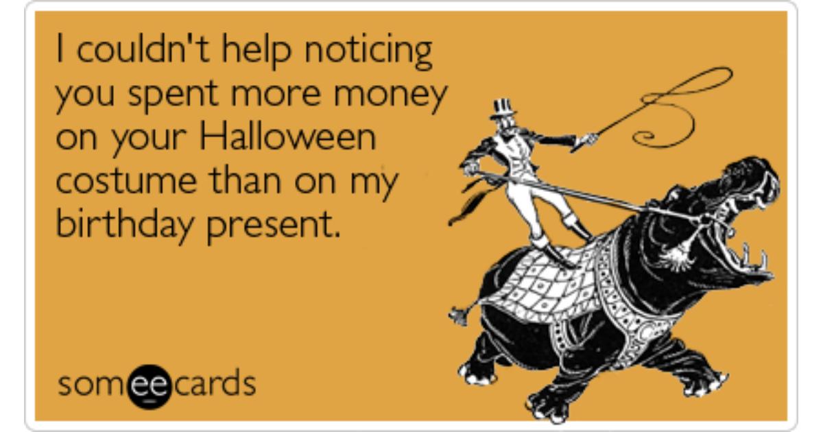 funny halloween birthday images