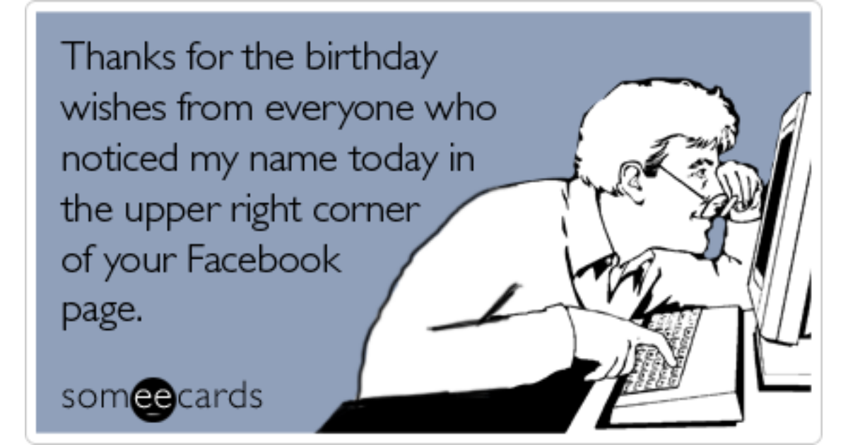 Funny Thanks Memes Ecards Someecards – Facebook Birthday Cards