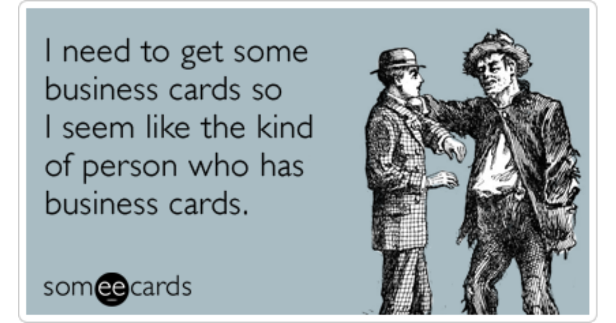 Business Cards Worker Job Career Funny Ecard | Workplace Ecard