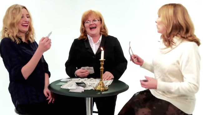Watch 'Downton Abbey' cast members get vulgar while playing Cards Against Humanity.