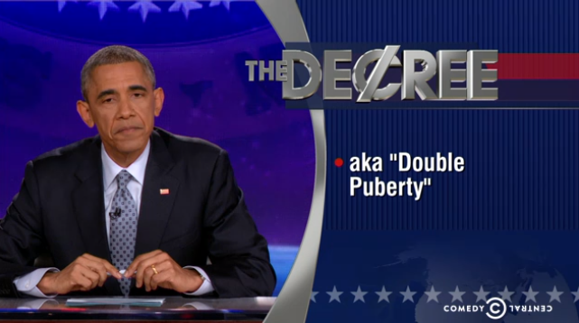 "Barack Obama took over last night's ""Colbert Report"" and delivered his own version of ""The Word."""