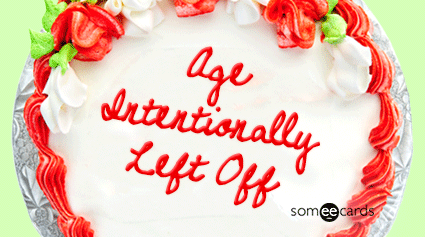 Cake Card: Age Intentionally Left Off.
