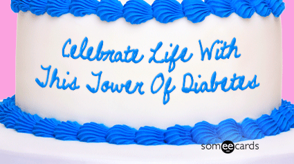 Cake Card Celebrate Life With This Tower Of Diabetes