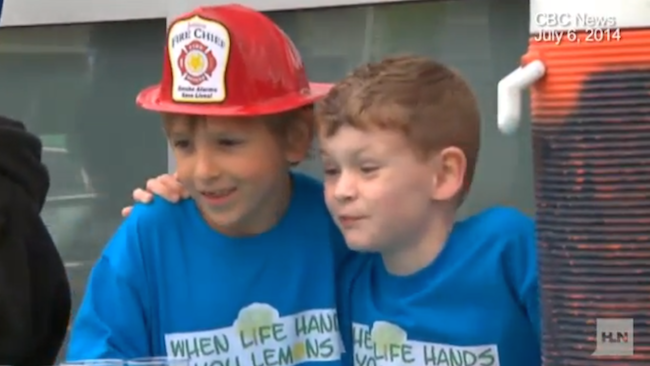 A 7-year-old boy started a lemonade stand to help his friend who needs surgery, and he's raised over $55,000.