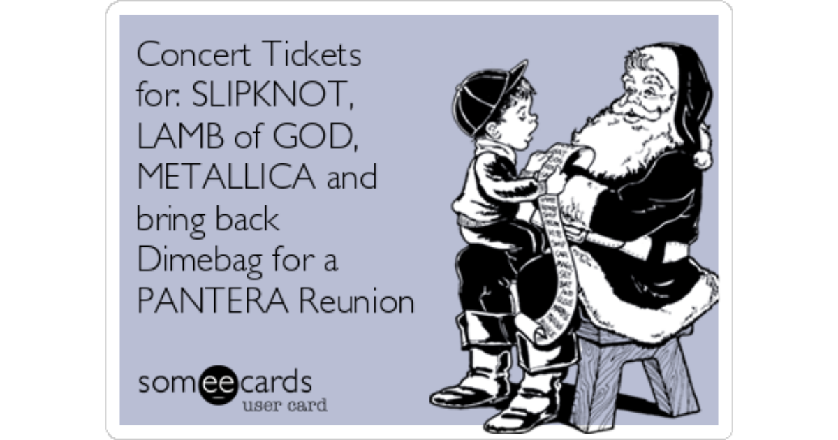 Concert Tickets For Slipknot Lamb Of God Metallica And Bring Back