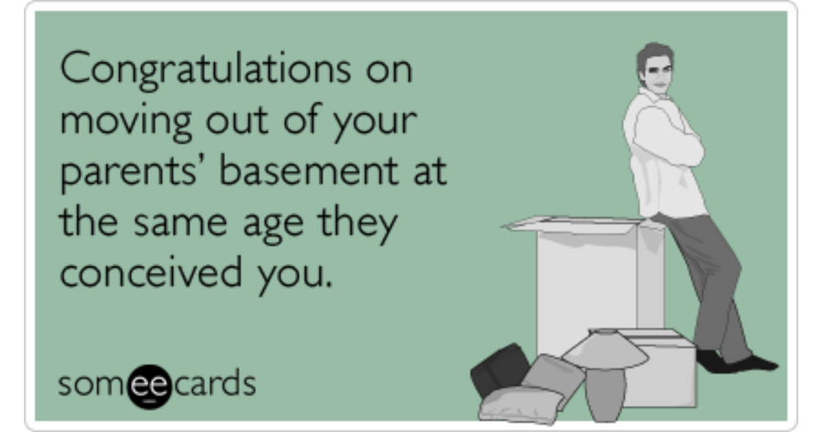 Congratulations Moving Out Parents Funny Ecard ...