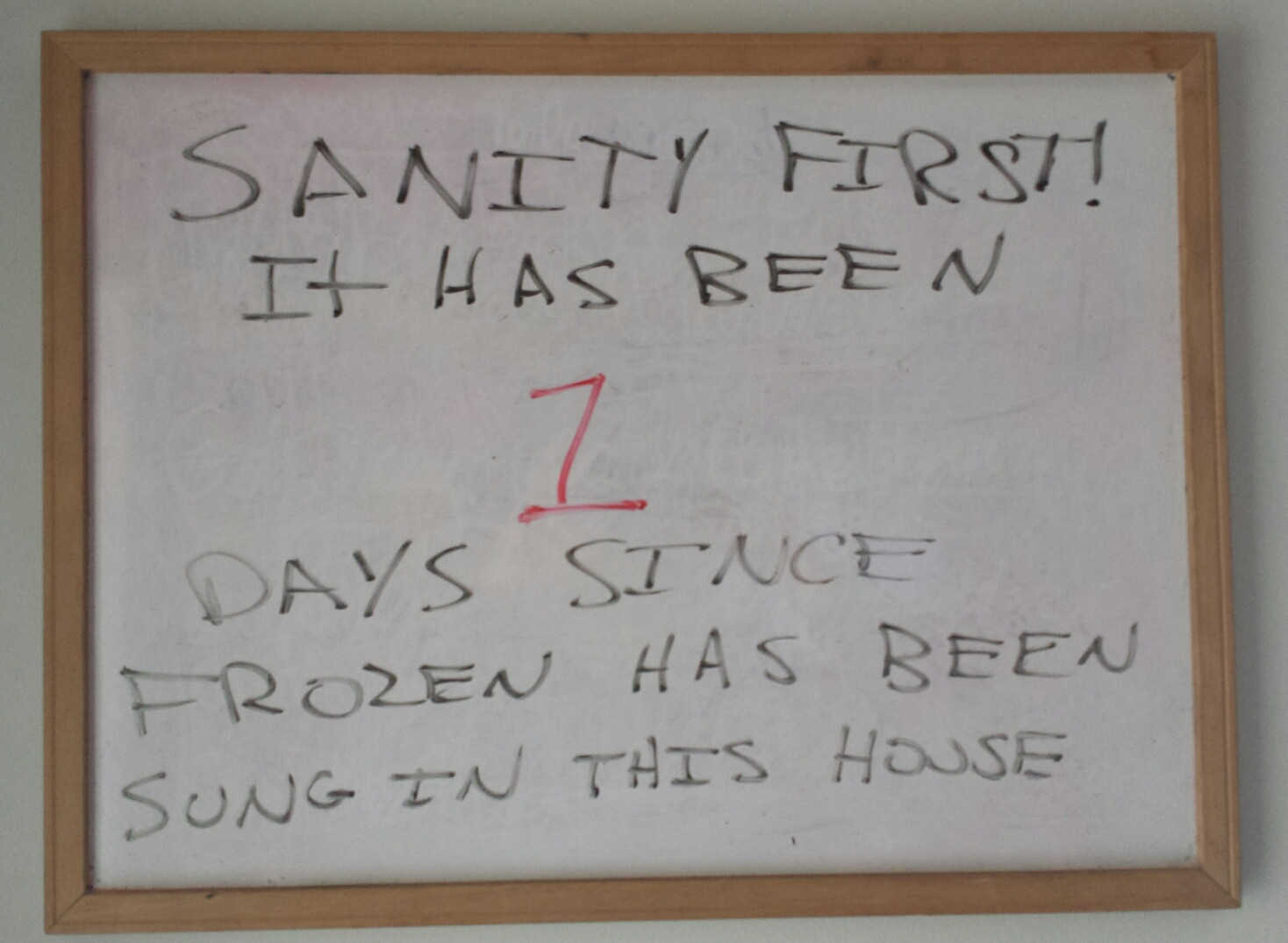 This father of two girls is doing what he can to make his house a 'Frozen'-free zone.