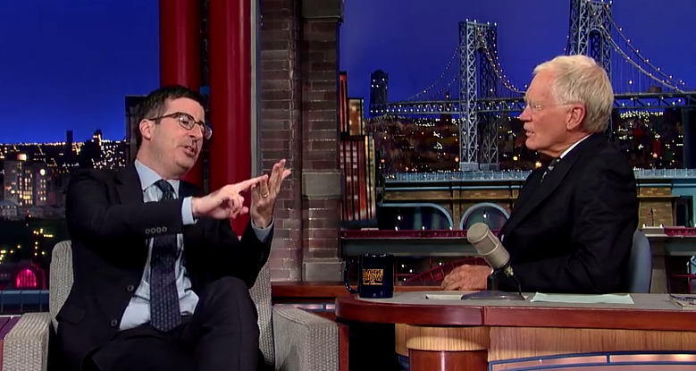 John Oliver tries, and mostly fails, to explain English soccer to David Letterman.