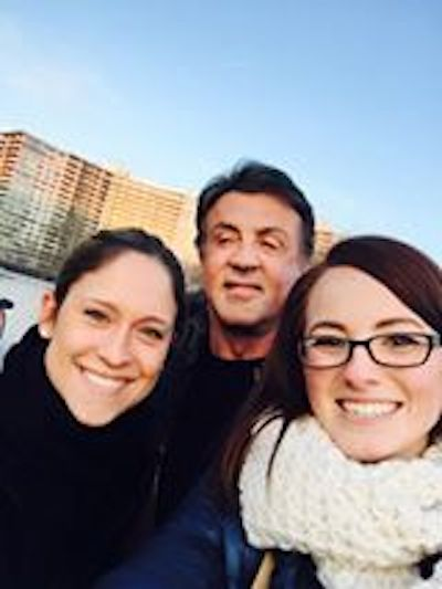 A lonely Sylvester Stallone waited at top of Rocky steps for tourists to take selfies with him.