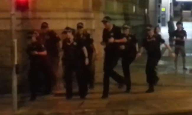 A bunch of drunk Australians challenged a group of cops to a dance off and lost.