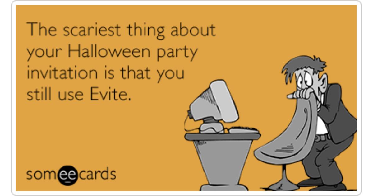 evite halloween party holiday invitation funny ecard halloween ecard - Evite Halloween Party