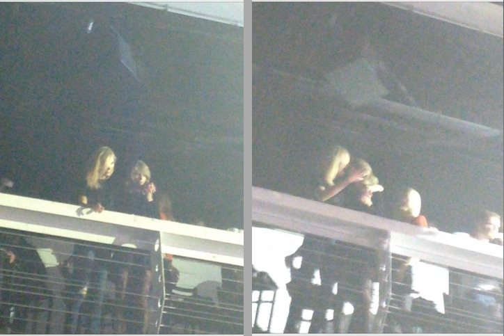 This may or may not be Taylor Swift making out with a Victoria's Secret model.