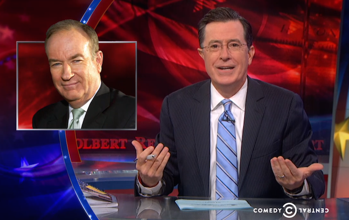 After 9 years of admiring him, Stephen Colbert finally unloads on Bill O'Reilly.