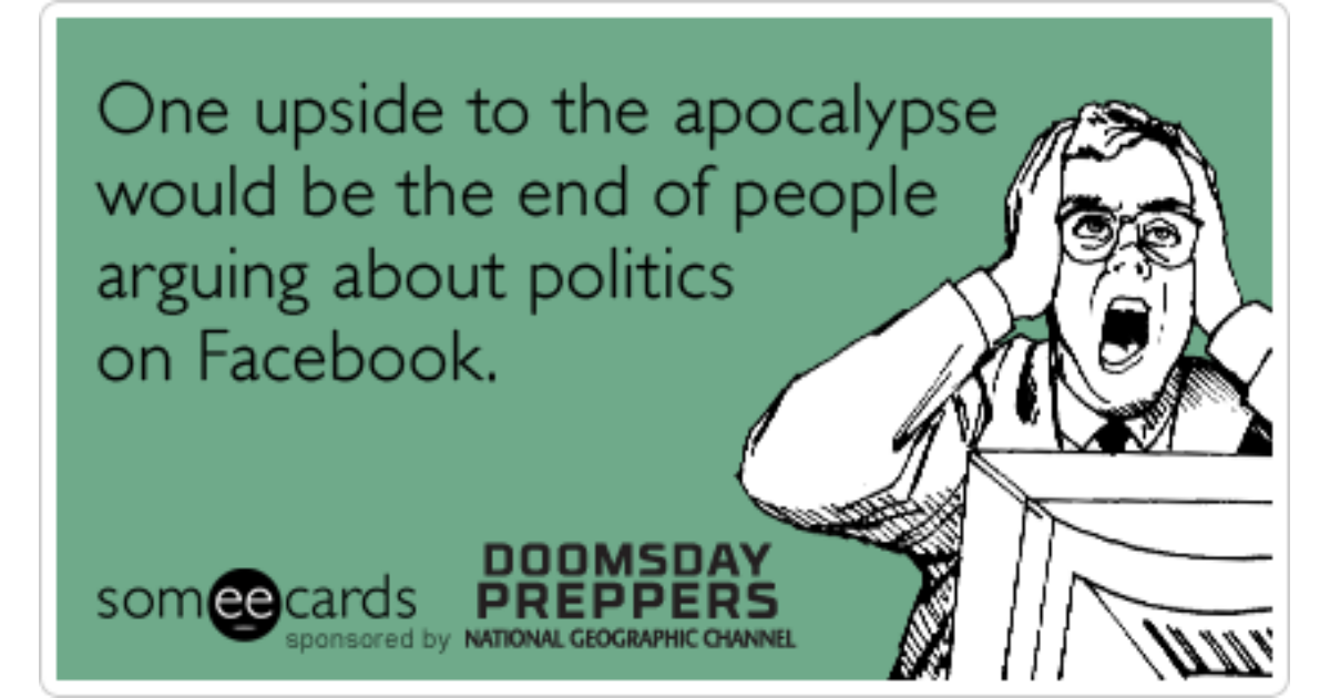 doomsday preppers online dating Prior to attending the national preppers and survivalists expo in  haiyan, and  the 2010 haiti earthquake being broadcast all over the internet, it seems  dual  survivor - 2010 doomsday preppers - 2012 naked & afraid - 2013  sight,  dating naked, and other survival series like alone and survival live.