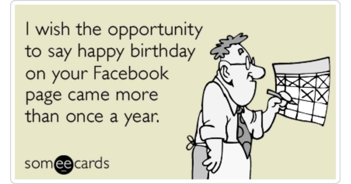 Facebook Page Happy Birthday Friends Online Funny Ecard