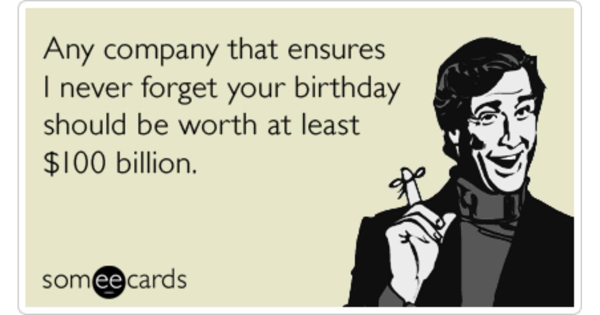 facebook birthday reminder love friendship funny ecard