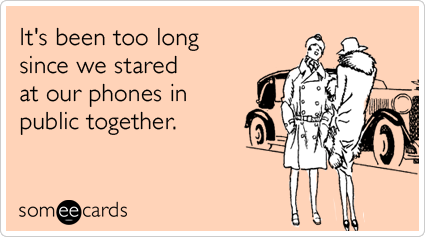It's been too long since we stared at our phones in public together.