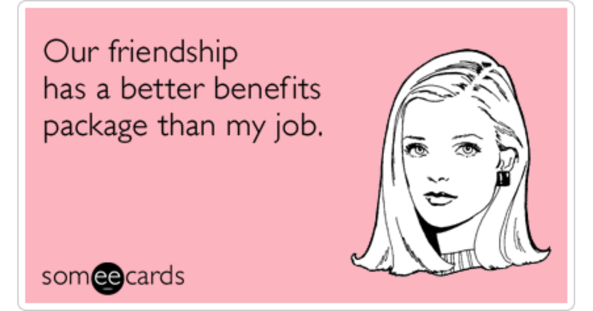 Meme benefits friends with Friends Without