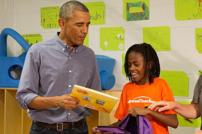 Obama breaks little girl's heart by not being Beyoncé.