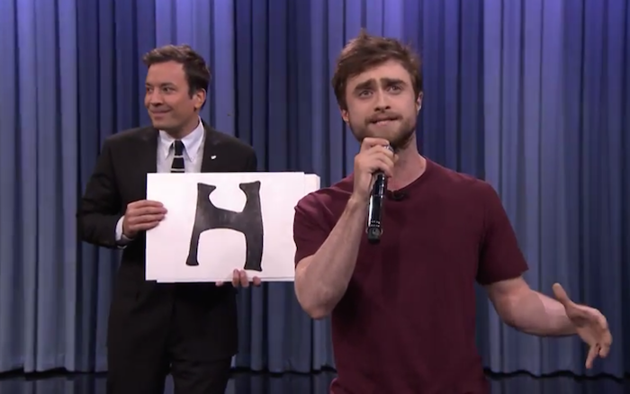 Daniel Radcliffe does an astoundingly amazing job rapping 'Alphabet Aerobics.'