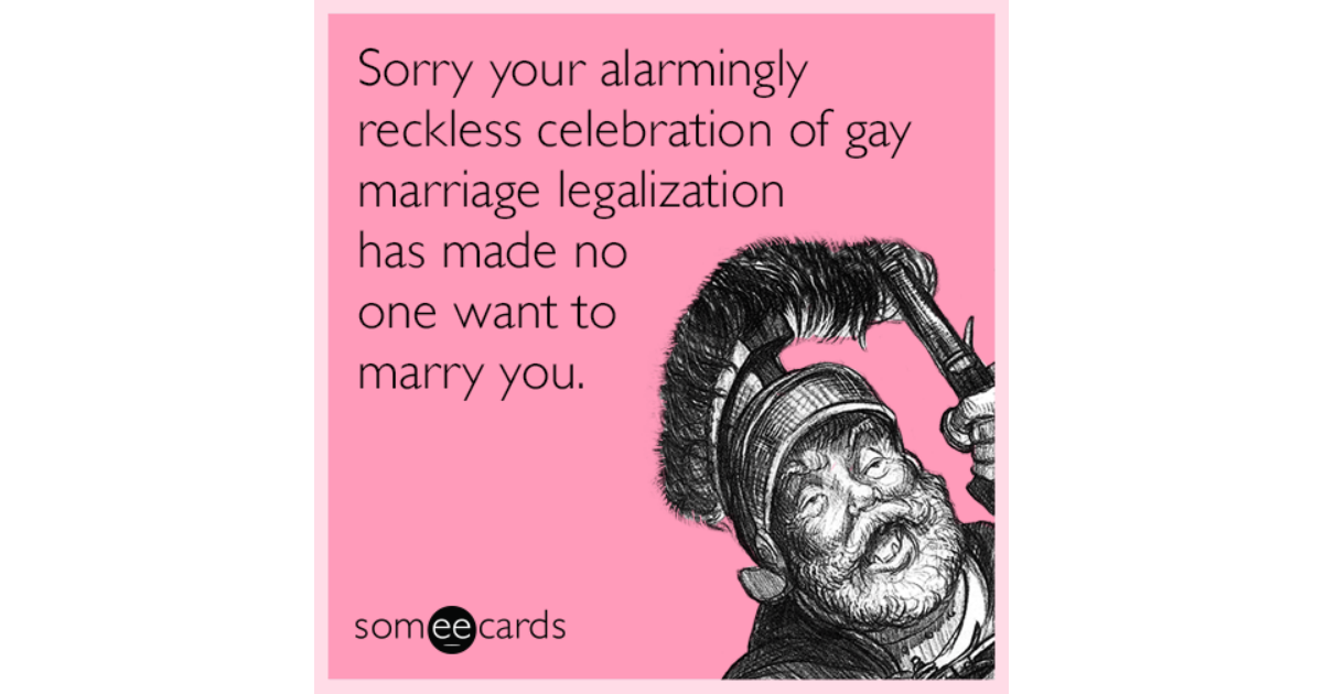 Amusing gay and lesbian ecards are