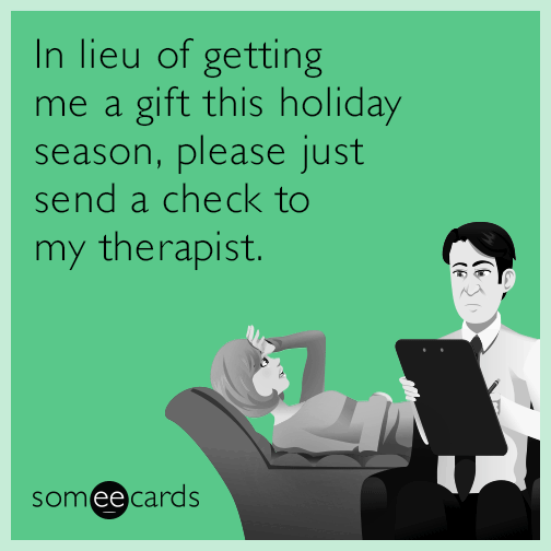 In lieu of getting me a gift this holiday season, please