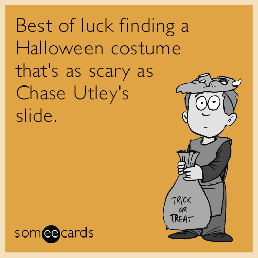 Best of luck finding a Halloween costume that's as scary as Chase Utley's slide.