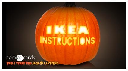 Truly Terrifying Jack O' Lantern: Ikea instructions.