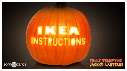 someecards.com - Truly Terrifying Jack O' Lantern: Ikea instructions.