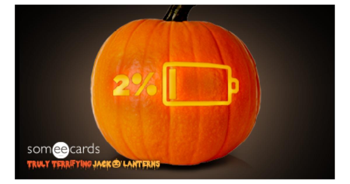 Truly Terrifying Jack O Lantern Low Battery Halloween