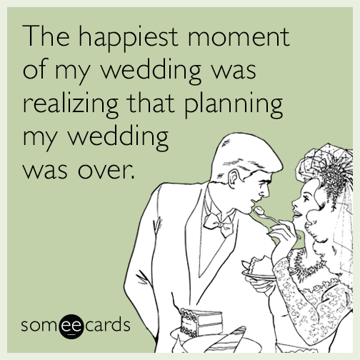 The Hiest Moment Of My Wedding Was Realizing That Planning Over