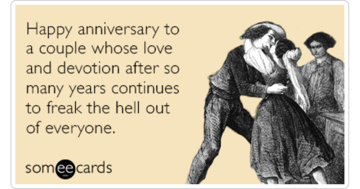 Happy Anniversary Love Freak Out Funny Ecard | Anniversary Ecard