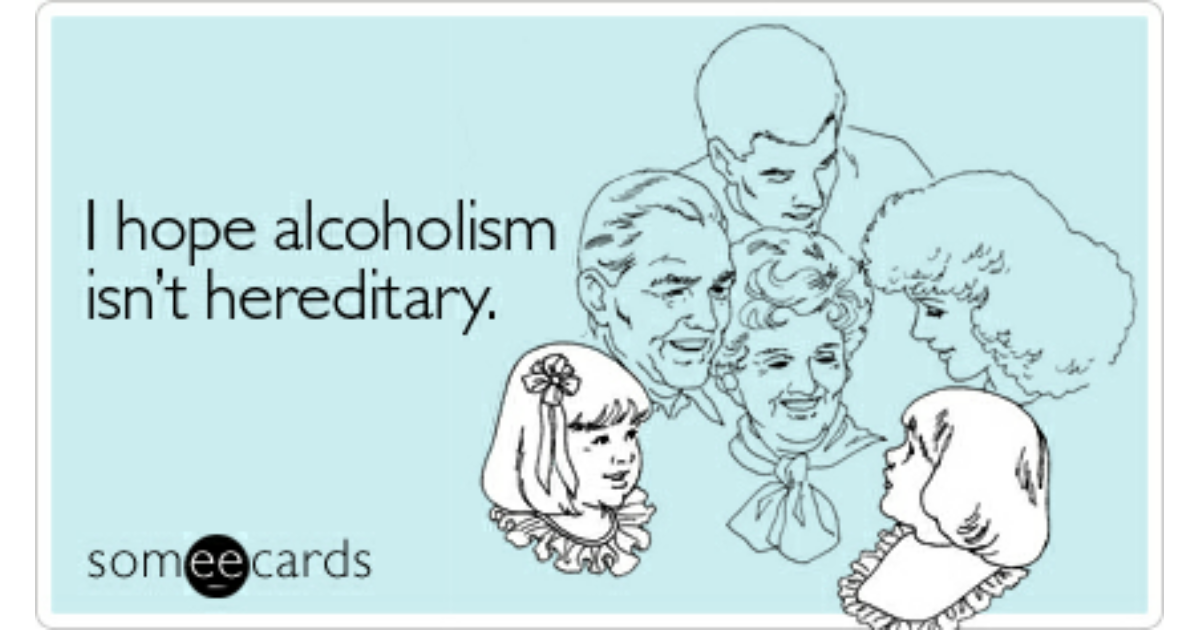 a study on alcoholism being hereditary The link between genetics & addictions in one such study, the national institute on alcohol abuse and alcoholism reports that children of alcoholics are between.