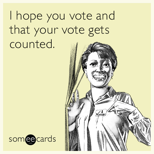 I hope you vote and that your vote gets counted.