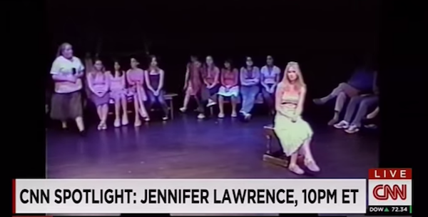 Here's some never-before-seen footage of Jennifer Lawrence doing community theater at age 14.