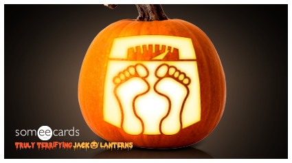 Truly Terrifying Jack O' Lantern: Bathroom Scale.