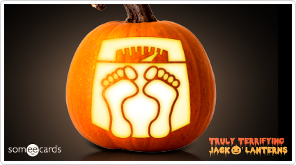 someecards.com - Truly Terrifying Jack O' Lantern: Bathroom Scale.