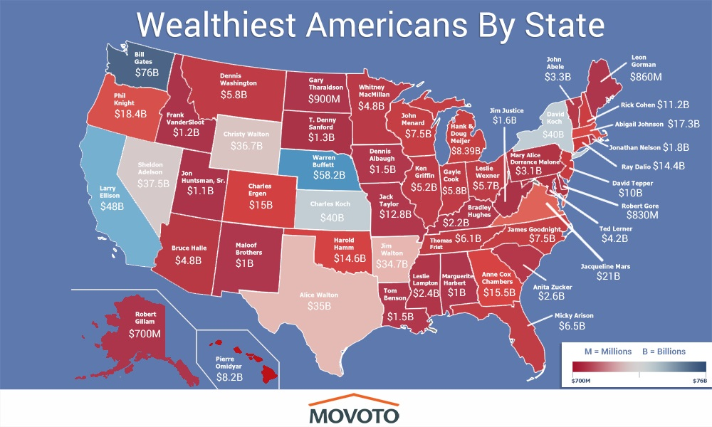 Here's a map of the richest person in every state. Let's get 'em!