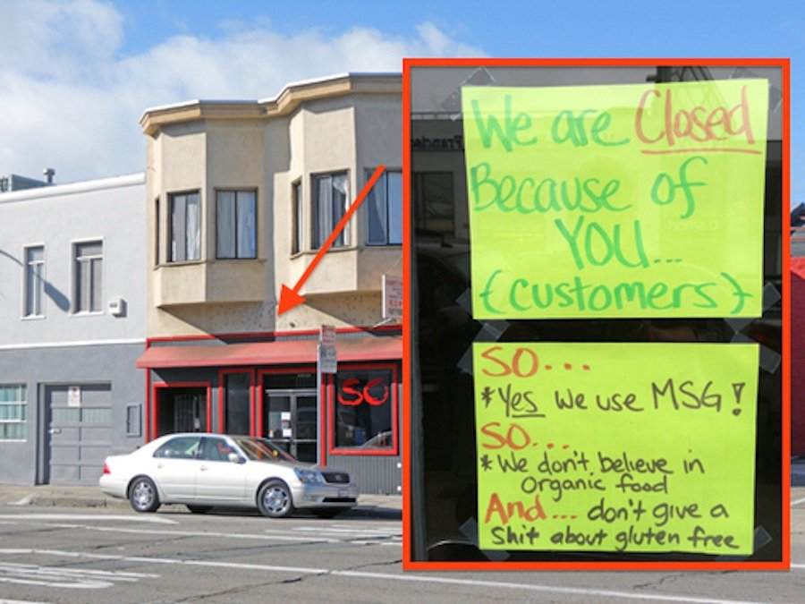 Restaurant closes down after owner gets sick of rude and picky diners.