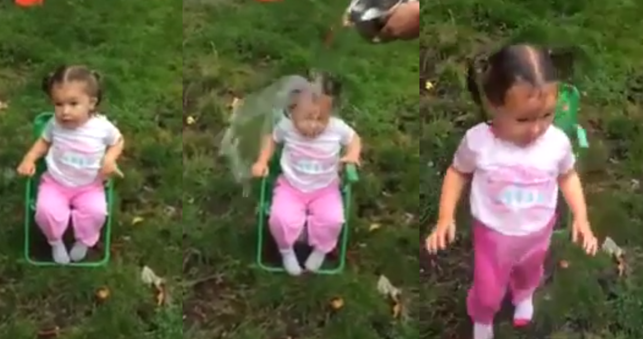This 2-year-old's Ice Bucket Challenge video is adorably NSFW.